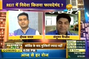 Anshuman Magazine on Zee Business Property Plus Show