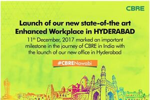 CBRE's new state-of-the-art enhanced workplace in Hyderabad