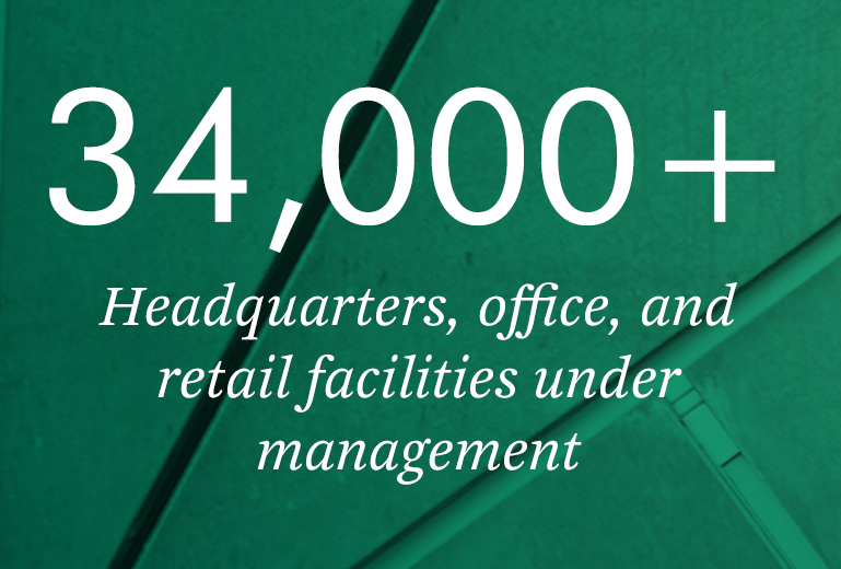 34,000+ Headquarters, office, and retail facilities under management